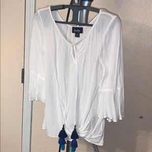 By&By white quarter sleeve shirt size XS